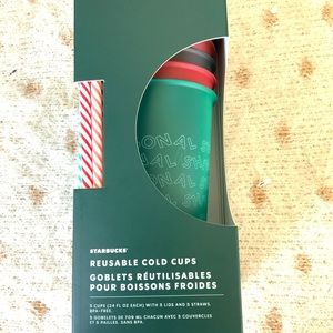 Starbucks Reuseable Hot Cups 6 16 oz. Holiday Cups